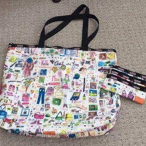 LeSportsac tote bag and insert